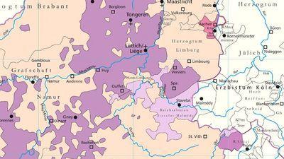 Heiliges Römisches Reich Karte.Deutscher Kirchenatlas Beleuchtet Bistum Lüttich Grenzecho